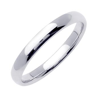 Comfort Fit Mens Wedding Band in Platinum 3.0mm WB1211