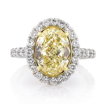 5.30ct Fancy Yellow Oval Cut Diamond Engagement Anniversary Ring 2806-1D37261754