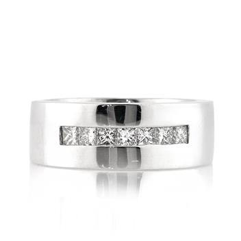 0.70ct Princess Cut Diamond Men's Wedding Band 2992-1D838244