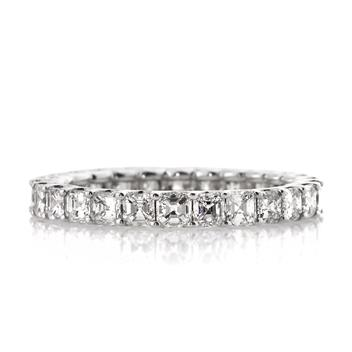 2.50ct Asscher Cut Diamond Eternity Band 2271-1D2089720