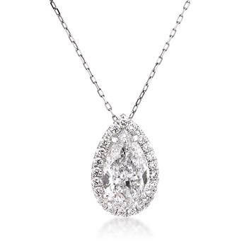 3.56ct Pear Shape Diamond Necklace Pendant 2797-1D35201286