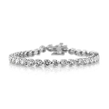 10.80ct Round Brilliant Cut Diamond Tennis Bracelet 3249-1D10670685