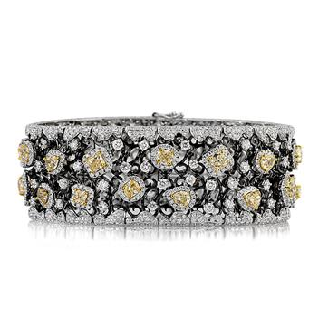 17.51ct Fancy Yellow Radiant and Oval Cut Diamond Bracelet 3121-1D19001789