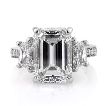 7.18ct Emerald Cut Diamond Engagement Anniversary Ring 2760-1D140414119