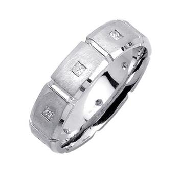 7mm Mens White Gold Diamond Wedding Bands WB54_2643