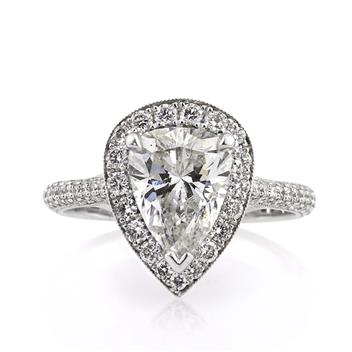 2.83ct Pear Shape Diamond Engagement Anniversary Ring 2457-1D9372610