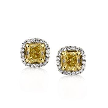 2.52ct Cushion Cut Diamond Stud Earrings 2841-1D7752885