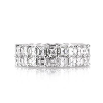 5.65ct Asscher Cut Diamond Eternity Band 1469-1D4454255