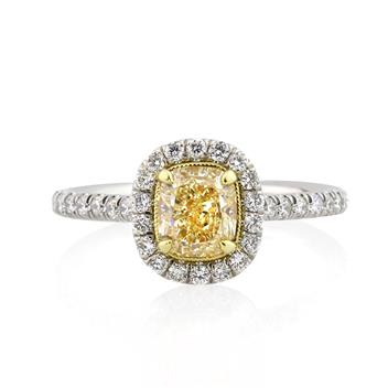 1.90ct Fancy Yellow Cushion Cut Diamond Engagement Anniversary Ring 2686-1D3403415