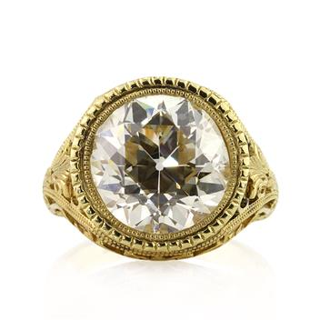 7.65ct Antique European Round Cut Diamond Engagement Anniversary Ring 2365-1D86351275