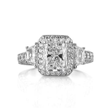 3.52ct Radiant Cut Diamond Engagement Anniversary Ring 3240-1D25300768
