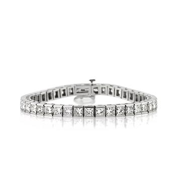 15.35ct Princess Cut Diamond Bracelet 2957-1D18357588