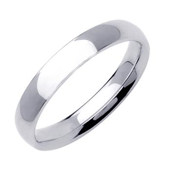 Comfort Fit Plain Mens Wedding Band in Platinum 4.0mm WB1214