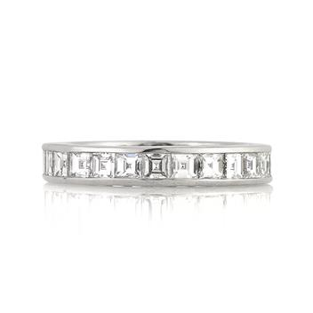 2.90ct Carre Cut Diamond Eternity Band 3136-1D3389115