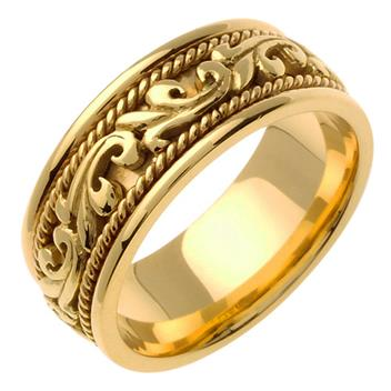handmade in 18K Yellow Gold 9.0mm WB1047