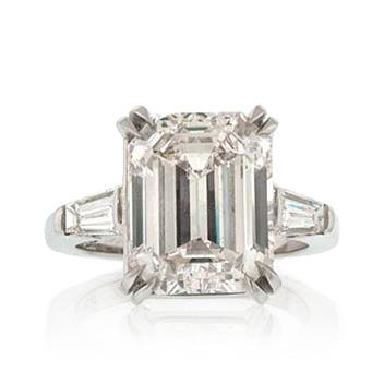 8.34ct Huge Emerald Cut Diamond Engagement Ring 853-1D2684278