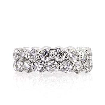 5.03ct Round Brilliant Cut Diamond Eternity Band 1858-1D3851753