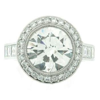 7.25ct Round Brilliant Cut Diamond Engagement Ring 1414-1D107812648