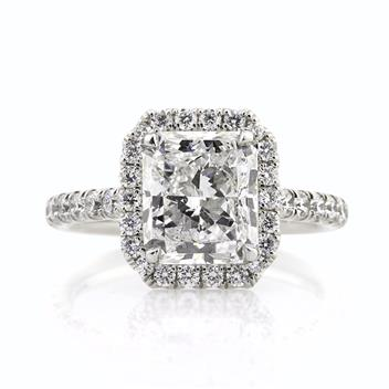 4.28ct Radiant Cut Diamond Engagement Anniversary Ring 2865-1D31677985