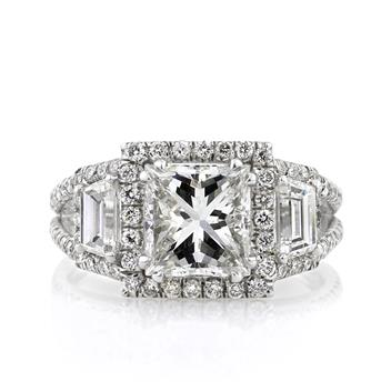 3.57ct Princess Cut Diamond Engagement Anniversary Ring 1513-1D15259927