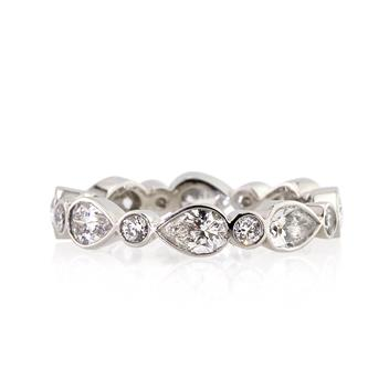2.20ct Pear Shape Diamond Eternity Band 2263-1D2683420