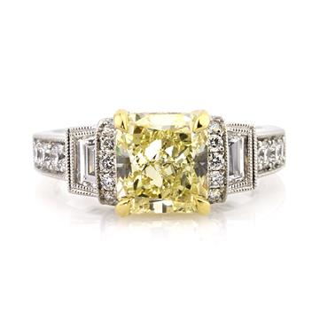 4.25ct Fancy Yellow Radiant Cut Diamond Engagement Anniversary Ring 2905-1D273988