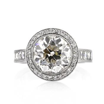 7.09ct Antique European Round Cut Diamond Engagement Anniversary Ring 2556-1D92404235