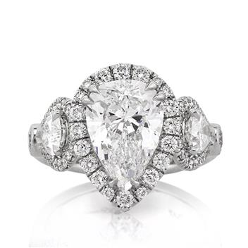 5.03ct Pear Shape Diamond Engagement Anniversary Ring 2333-1D39633735