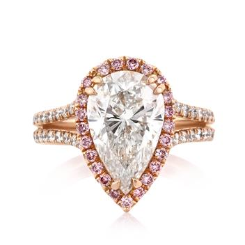 4.11 Pear Shape Diamond Engagement Anniversary Ring 2714-1D47301444