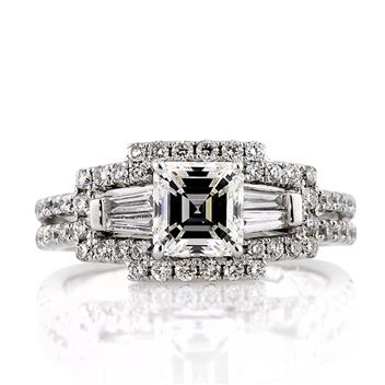 1.78ct Asscher Cut Diamond Engagement Ring 1018-1D5153578