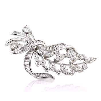 6.64ct Diamond Brooch Pin 2861-1D88007298