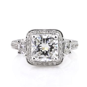 3.65ct Cushion Cut Diamond Engagement Anniversary Ring 2535-1D32621825