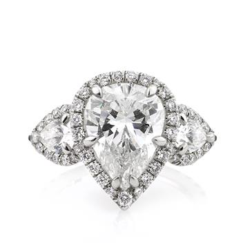 5.72ct Pear Shape Diamond Engagement Anniversary Ring 2594-1D34208830
