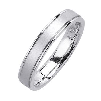 Handcrafted Sandblasted Mens Wedding Band in Platinum d 4.5mm WB1184