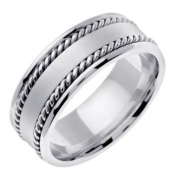 Handmade Mens Wedding Band in Pandora 8.0mm WB1113