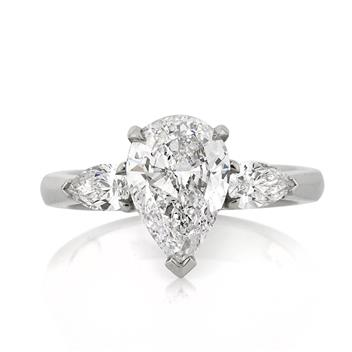 2.50ct Pear Shape Diamond Engagement Anniversary Ring 1520-1D13293620