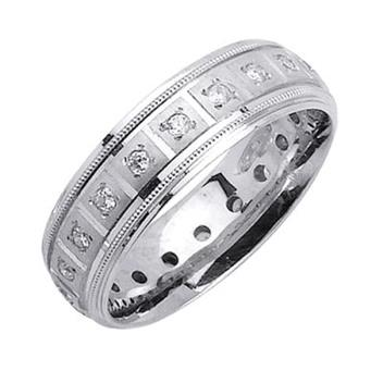 7mm Mens White Gold Diamond Wedding Bands WB41_2441