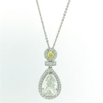 6.35ct Pear Shape Diamond Pendant 1788-1D64165254