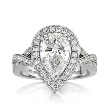 3.14ct Pear Shaped Diamond Engagement Anniversary Ring 3116-1D15471830