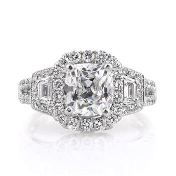 3.67ct Antique Cushion Brilliant Diamond Engagement Anniversary Ring 2822-1D20532688