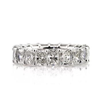6.20ct Radiant Cut Diamond Eternity Band 2928-1D109505_620_18K