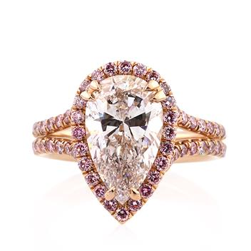 4.02ct Pear Shape Diamond Engagement Anniversary Ring 2716-1D139332685
