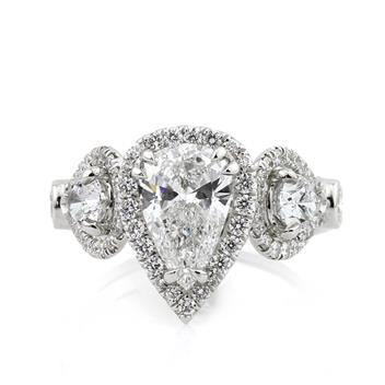 3.07ct Pear Shape Diamond Engagement Anniversary Ring 2762-1D9681754
