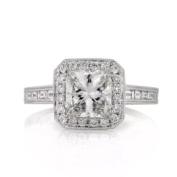 3.13ct Princess Cut Diamond Engagement Anniversary Ring 3053-1D7917445