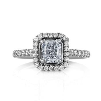 1.57ct Fancy Light Blue Radiant Cut Diamond Engagement Anniversary Ring 3251-1D332728