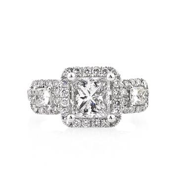 2.71ct Princess Cut Diamond Engagement Anniversary Ring 2618-1D7465710