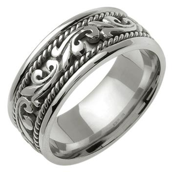 Handmade in 18K White Gold 9.0mm WB1042