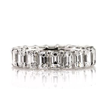 6.20ct Emerald Cut Diamond Eternity Band 2927-1D11261862