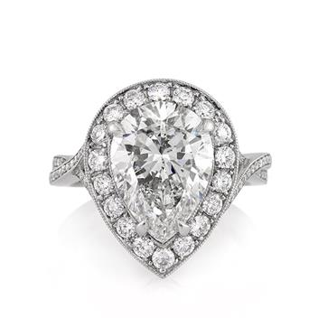 5.36ct Pear Shape Diamond Engagement Anniversary Ring 2745-1D55080329