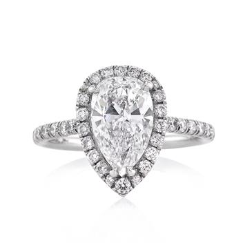 2.95ct Pear Shape Diamond Engagement Anniversary Ring 2593-1D35291425
